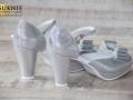 srebrne obuwie ślubne