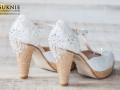 złote obuwie ślubne