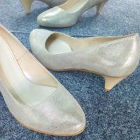 złote obuwie ślubne będzin